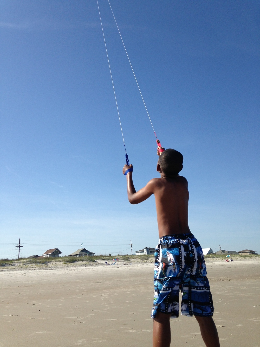 The boys flew kites...