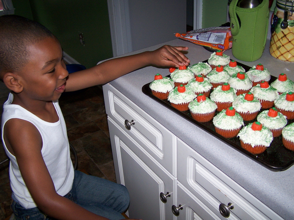 I made Orange Velvet Cupcakes - FROM SCRATCH