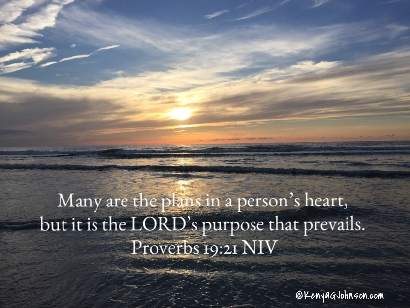 Many are the plans in a person's heart, but it is the LORD's purpose that prevails. Proverbs 19:21 NIV
