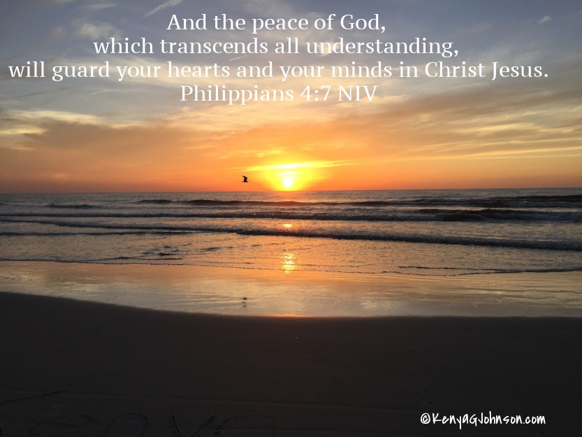 And the peace of God, which transcends all understanding, will guard your hearts and your minds in Christ Jesus. Philippians 4:7 NIV