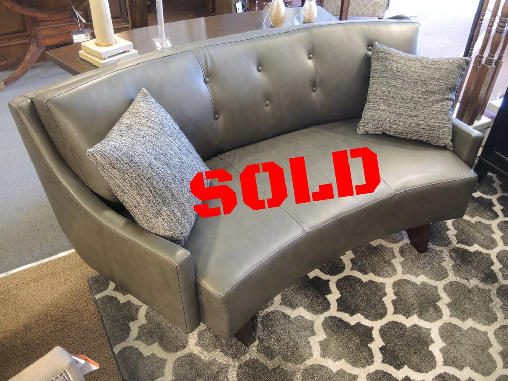 Stickley Apartment Size Curved Sofa $3095, discontinued leather