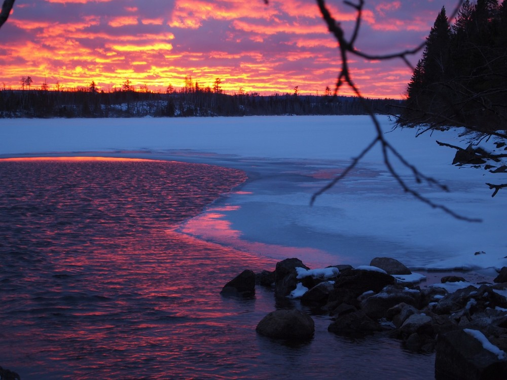 Sunset on Little Gunflint