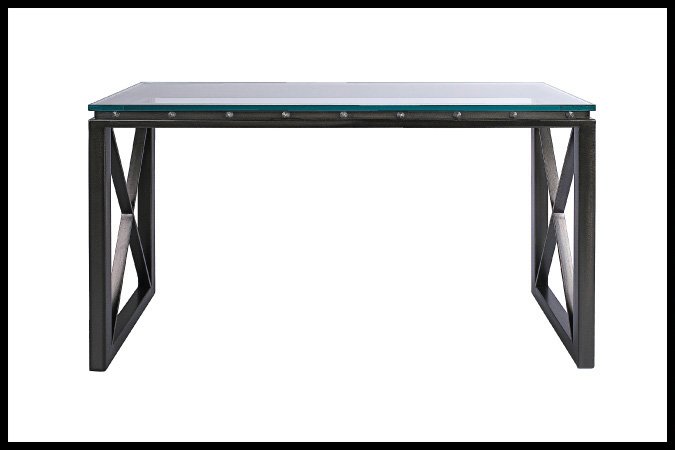 "Console Table Size Shown: 20"" x 58"" x 32""H Ebony Finish"