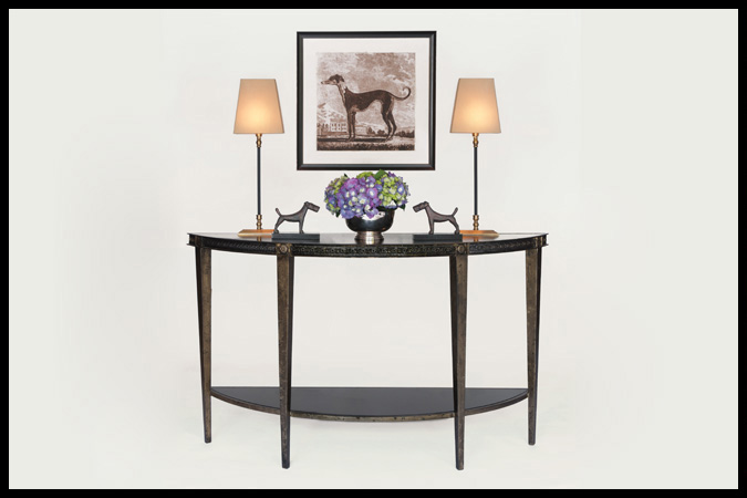 Regent Demi-Lune Table