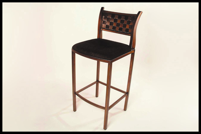 "Seat Height: 17"" x 17"" x 29"" Back Height: 42"" Copper with Ebony Glaze Finish"
