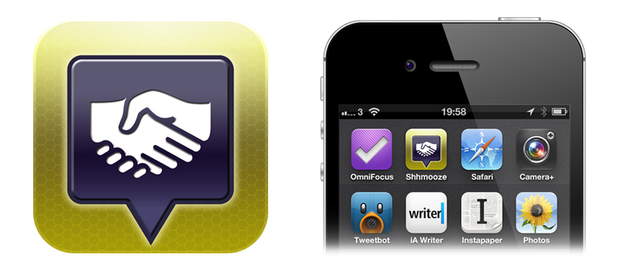 The new Shhmooze icon - and as seen on the iPhone.