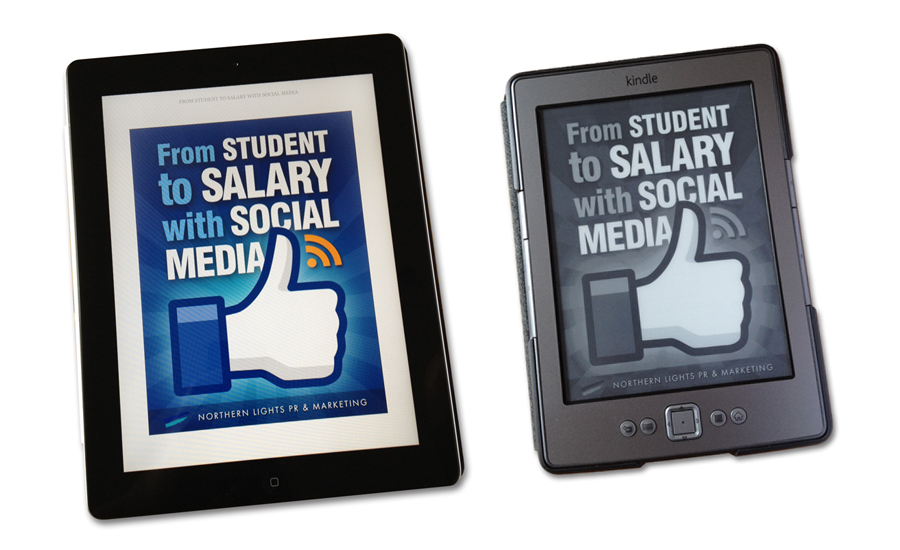 The Student eBook cover on iPad and Kindle.