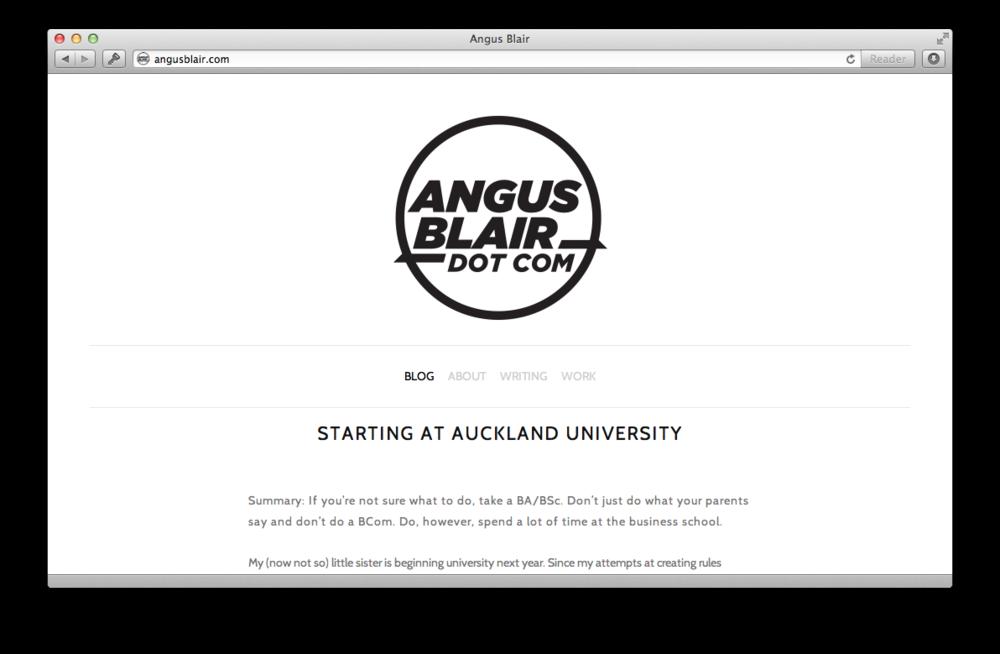 2012 Blog Design