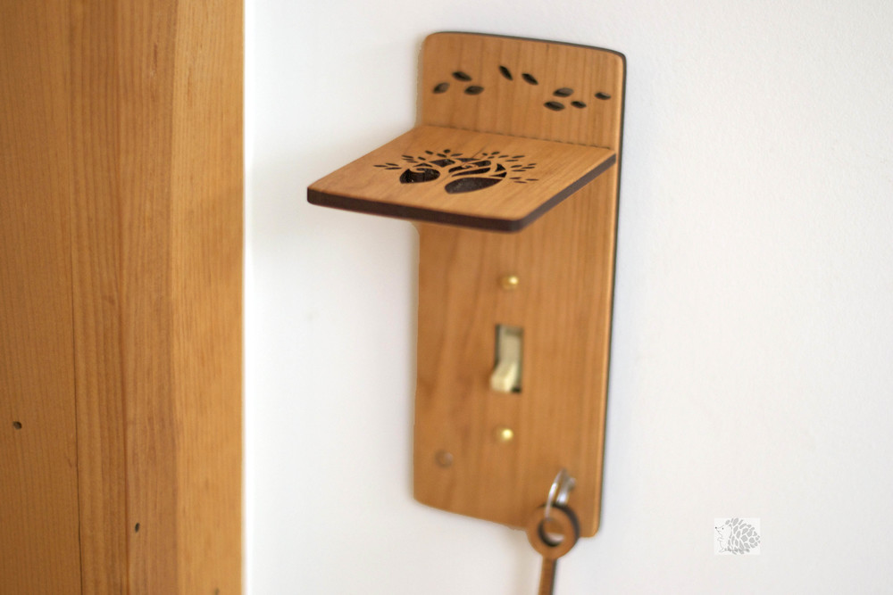 Tree Light Switch Cover with Shelf and Key Magnets