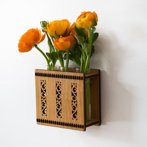 Flower Triple Bud Vase Flower Vase Wall Vase Hannahs Ideas In