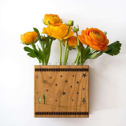 Twilight Triple Bud Vase Flower Vase Wall Vase Hannahs Ideas