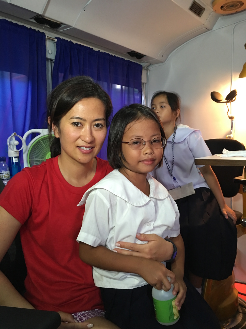 This severely nearsighted 11-year-old girl got her first exam and a new pair of glasses!