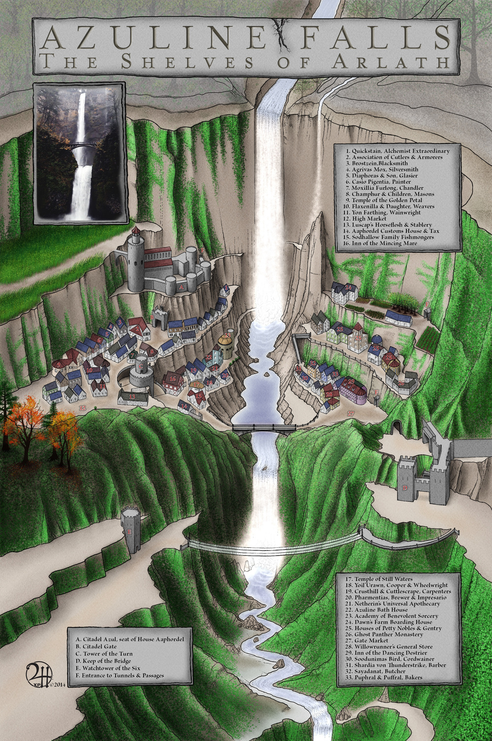 Azuline Falls: The Shelves of Arlath