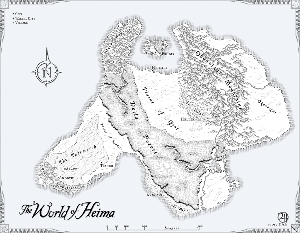 Map for Shawn Gunn's Novel
