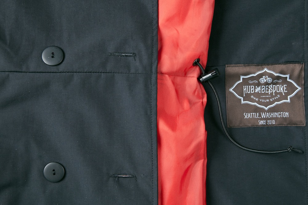 The Women's Riding Coat is proudly designed and made in Seattle, Washington.