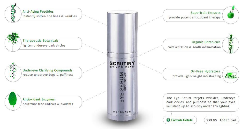 The Eye Serum Concentrate™ is an oil-free gel that utilizes organic extracts, anti-aging peptides, and wrinkle-relaxing neuropeptides to lighten undereye dark circles, reduce puffiness, and diminish wrinkles around the eyes. This active serum can be applied at any time of the day and night.