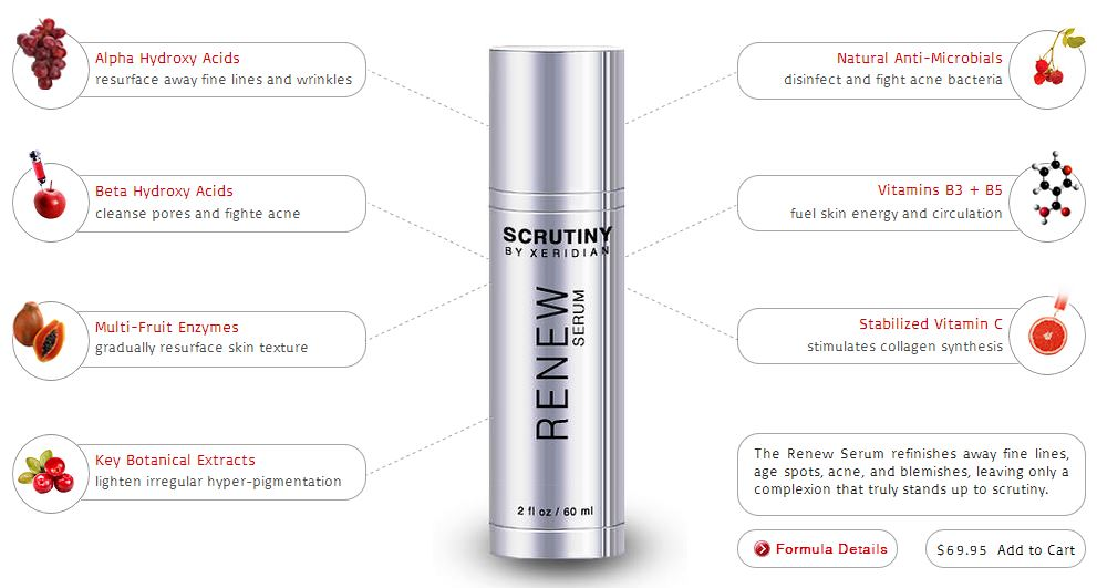 The Renew Serum™ is an oil-free gel that resurfaces skin texture, refinishes fine lines, lightens uneven pigmentation, and brightens the skin. The pH of this formula is kept just under 4.0, which is the optimal level to ensure gentle application yet maximum effectiveness of the natural enzymes and fruit acids for revising scars, removing blackheads, and improving all severities of acne. This active serum can be applied at any time and is especially suggested as an evening therapy.