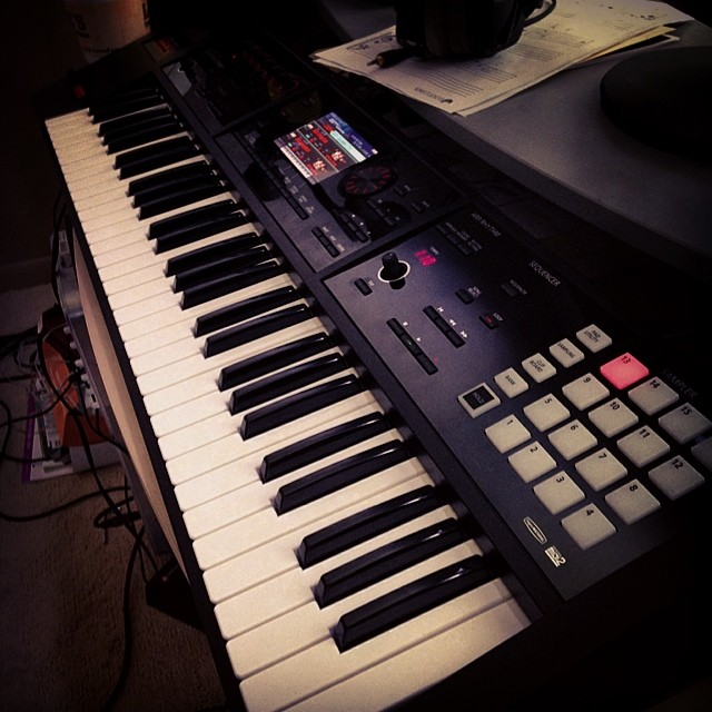 I try to apply this same principle where I can to my gear, as well. For instance, I'll bring along a 61 note keyboard and a laptop instead of my large Nord Stage, if I have the choice.