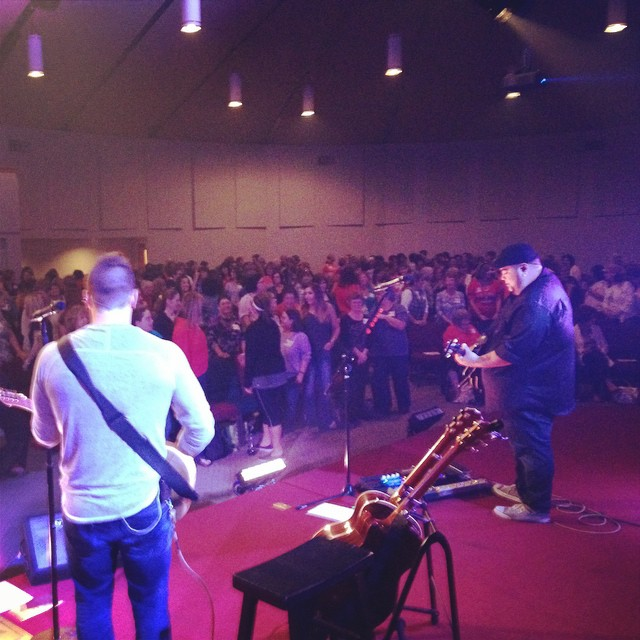 I took this shot onstage during a worship conference with NewSong's Steve Reischl. The setlist included over 50 songs, and I had less than 3 days to prep. I used all of the above steps to pull it off, and while I didn't play flawlessly, I was able to make it through.