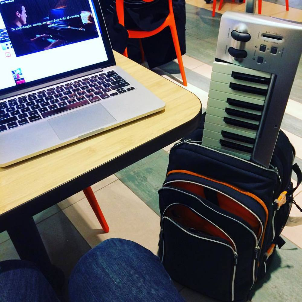 This is what I mostly do now- living out of a backpack filled the essentials, including my trusty MacBook Pro.