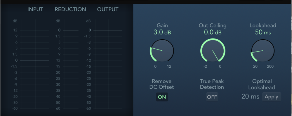 I like the simplicity of the new Adaptive Limiter plugin!