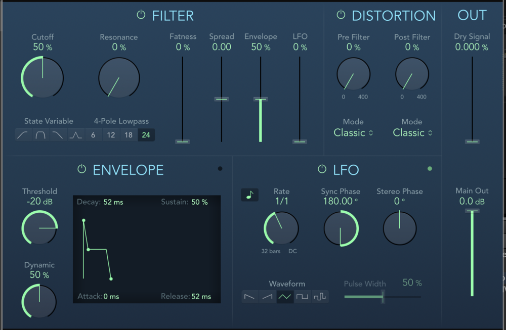 The new Auto Filter plugin makes all of the parameters easier to read and understand.
