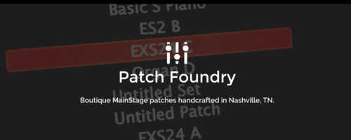 Free Mainstage Patches — Eric Barfield