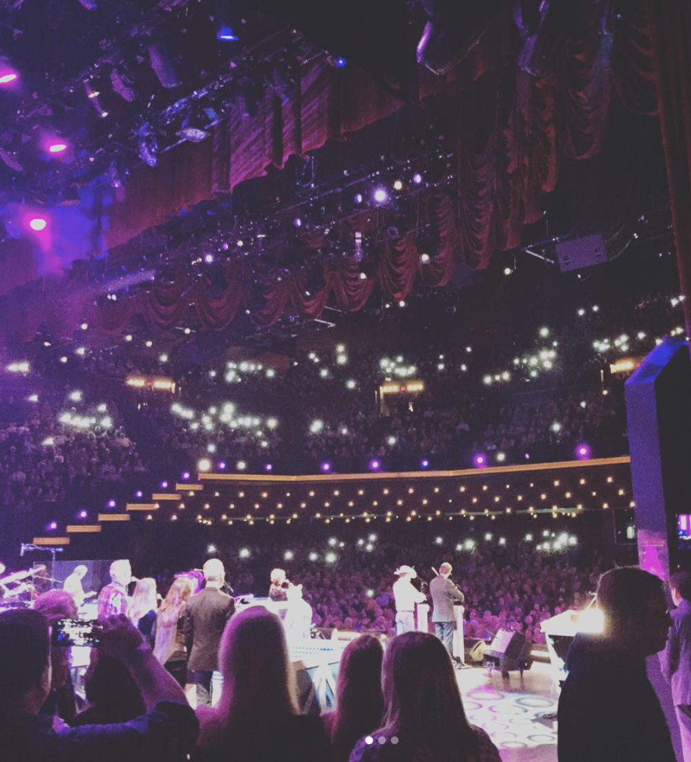Being at the Opry seems like hanging out with friends that all happen to love music as much as you do.