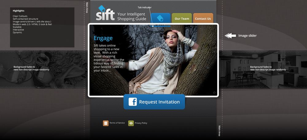 Sift sign up landing page