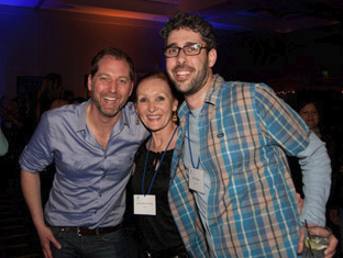 Martine De Weirdt, Jeffrey Van Dyk and MJ Petroni at a Wisdom 2.0 Summit 2012 dance party.