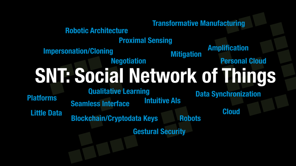 The SNT touches on many of the same technologies which begin to emerge in the IoT.