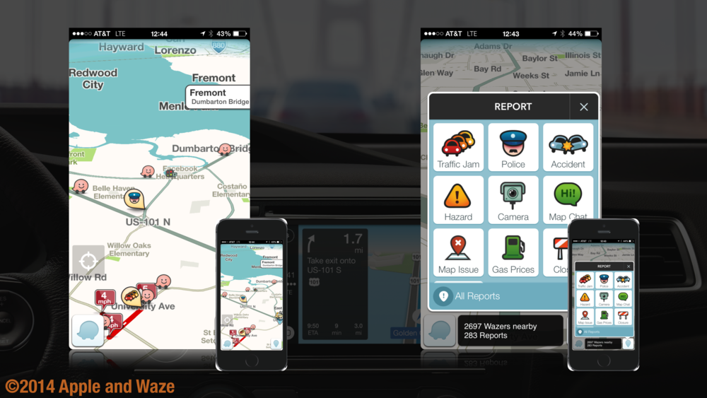 Waze is a system which does something basic mapping systems couldn't—and which was definitely not possible in the age of traffic radio and paper maps: it connects various drivers to each other in real time.