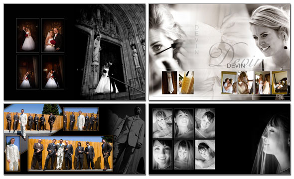 wedding album design custom created wedding album design services blendedmotion provides. Black Bedroom Furniture Sets. Home Design Ideas