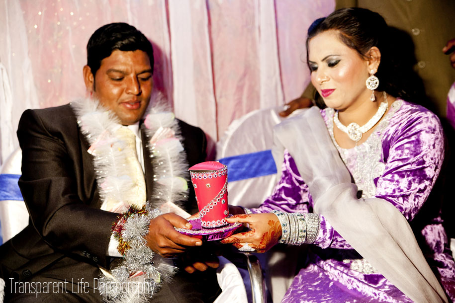 The groom and his family will then take turns drinking the milk.