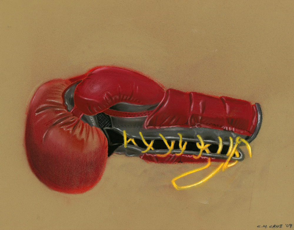 "Pastel rendering showing the ""Protex 3 "" premium boxing glove for Everlast Worldwide."