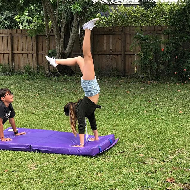 Caleigh and Juancho training for olympics.