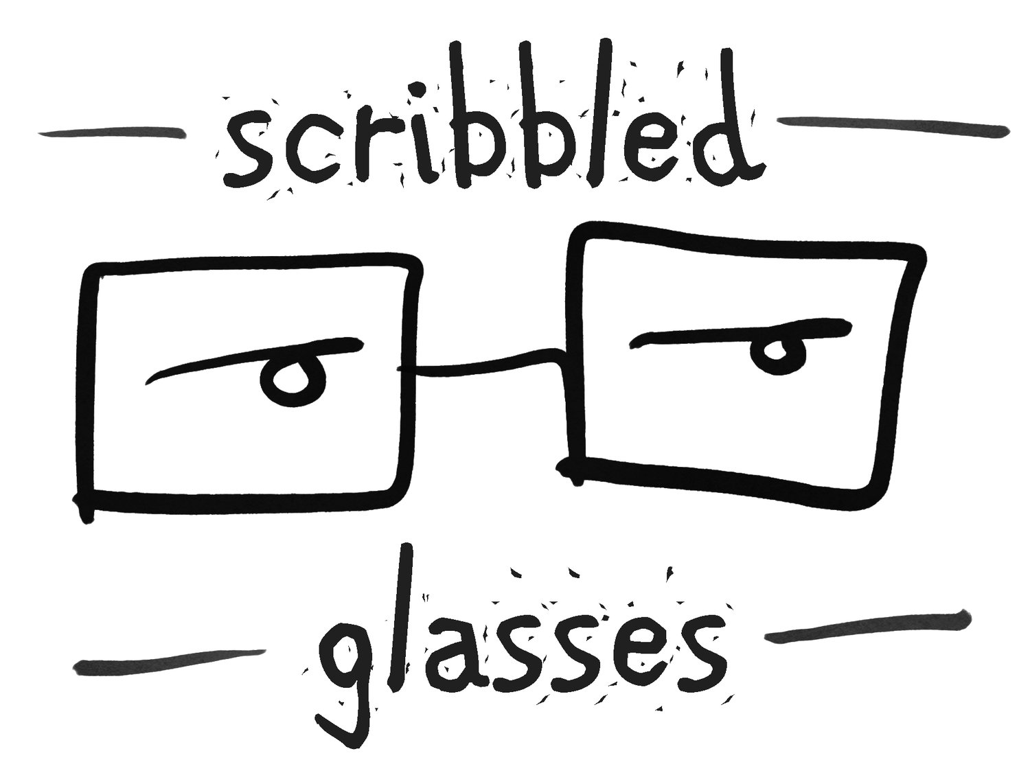 Scribbled Glasses Media