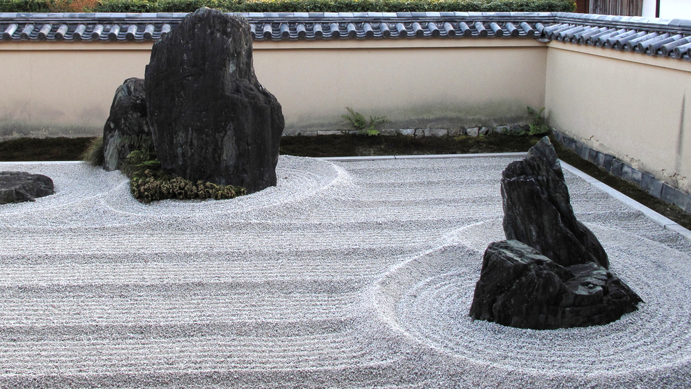 A zen garden at Daitokuji in Kyoto.  Photo by Paul Crouse