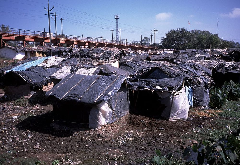 A slum in India. Be thankful that you don't live there.   (Photo by Paul Crouse)