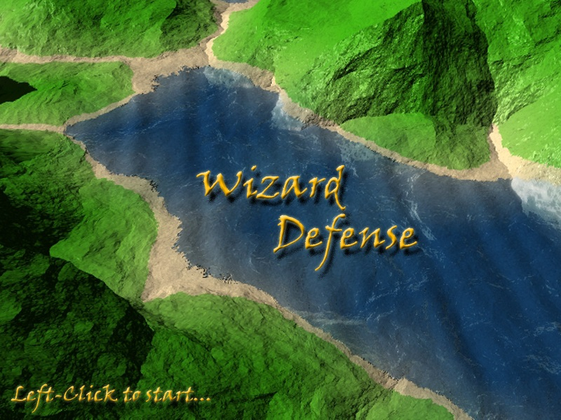 'Wizard Defense' splash screen