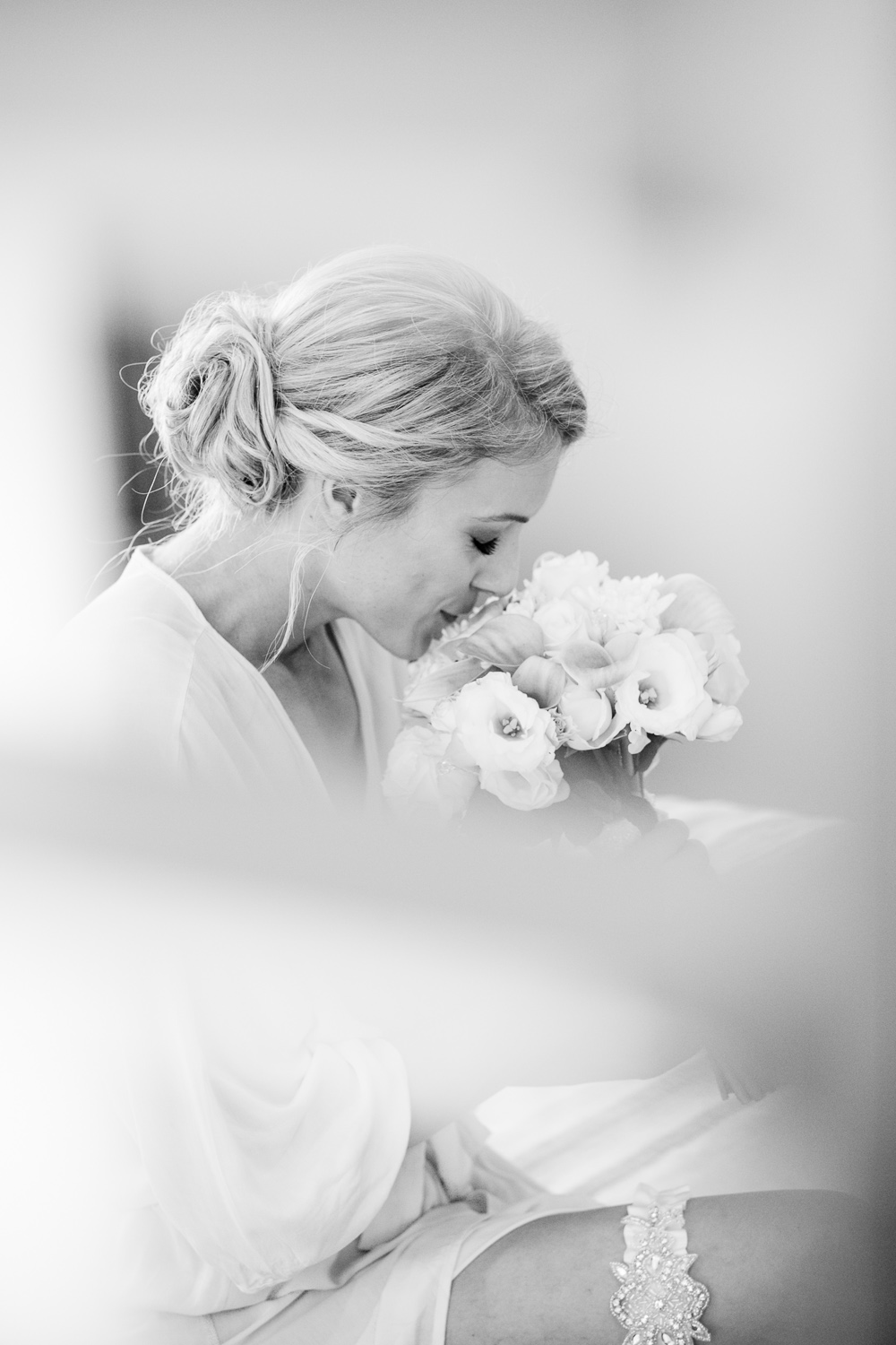 Private moment for Bride