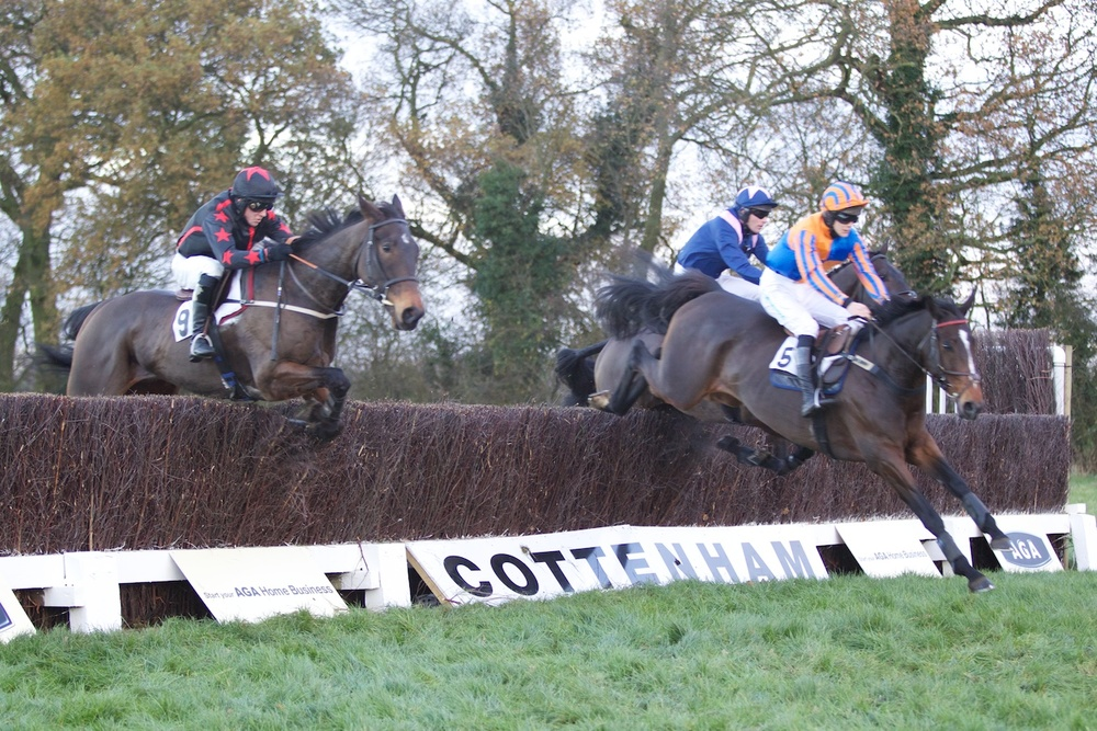 Lough Inch leads over the first fence