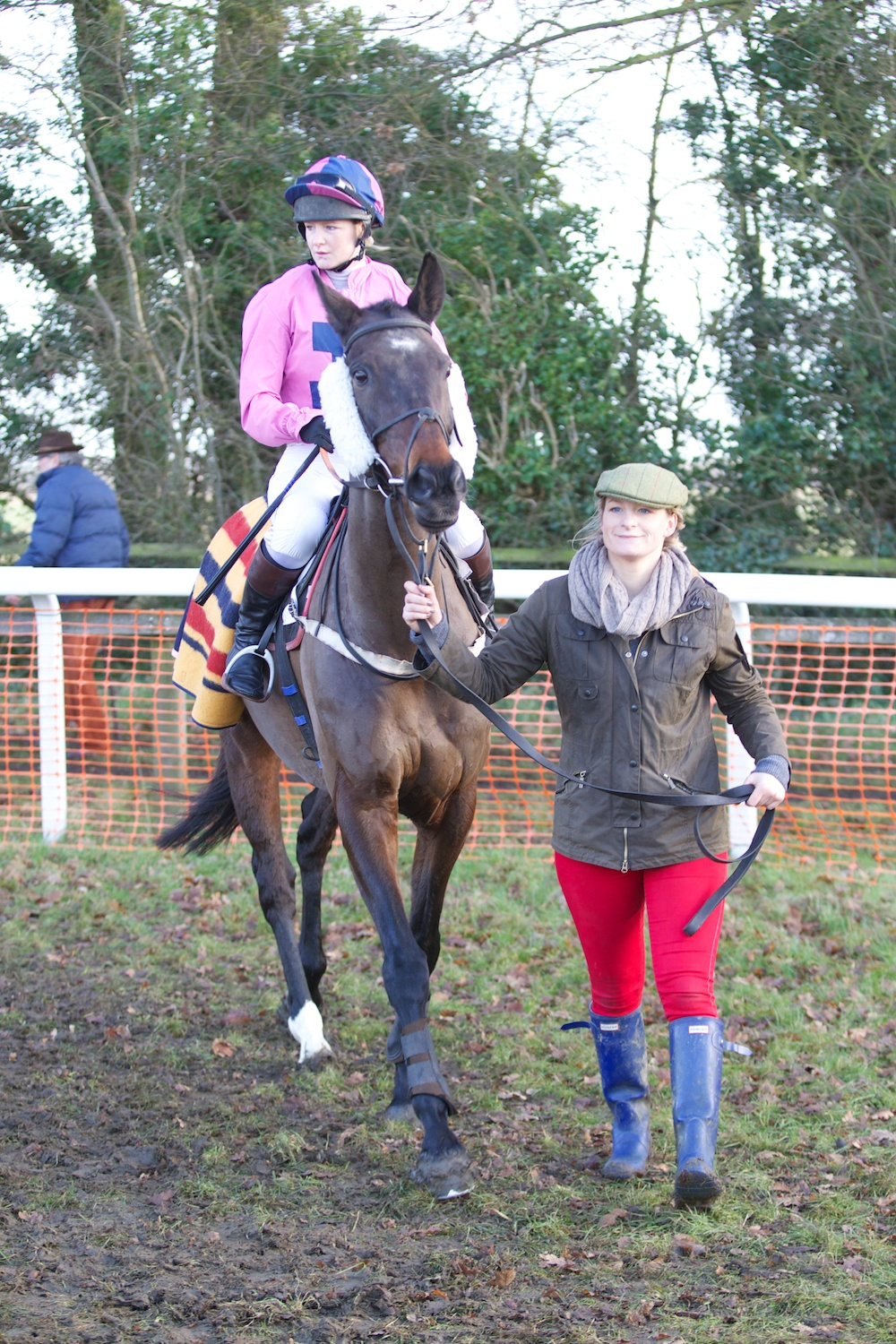 Rear Gunner, ridden by Hannah Grissell and led up by her sister Rose