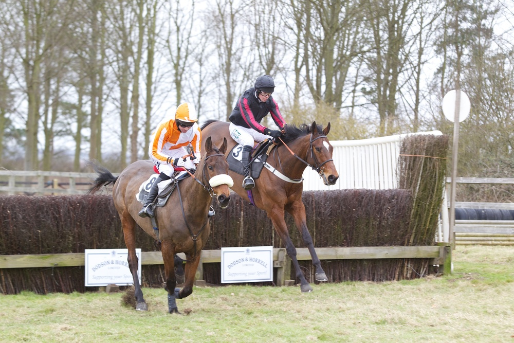 Dreamy George (right) under James Owen comes to claim Oppera (Dicky Collinson)
