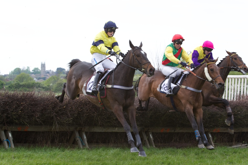 A third win of 2014 for Excitable Island (left)