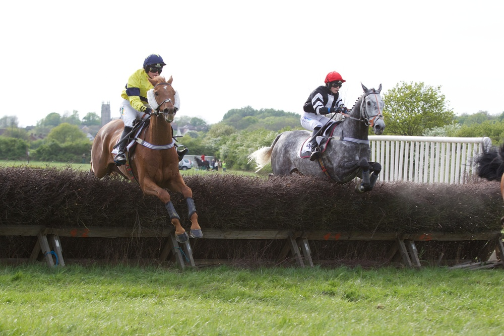 Hunts View (right) completes a treble for Bridget Andrews