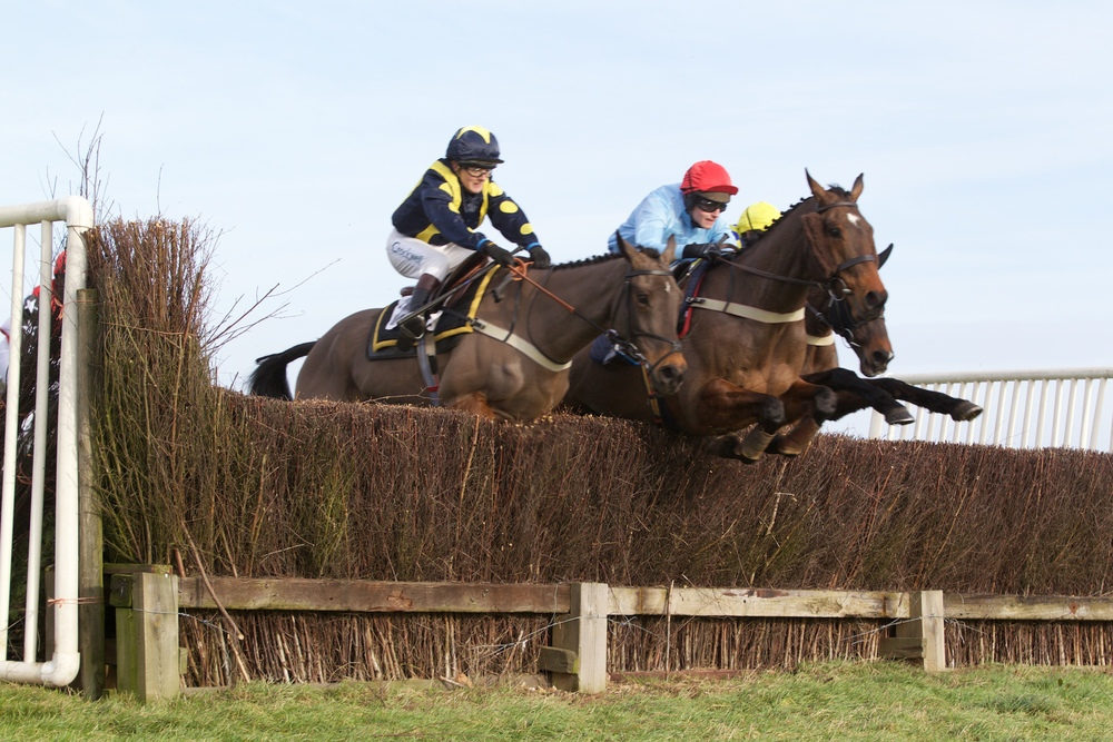 Mister Teddy (red cap) jumps alongside Rossbrin in the early stages