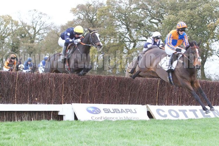 Lough Inch (Sam Davies-Thomas) leads Play The Ace (yellow cap, Dickie Collinson)