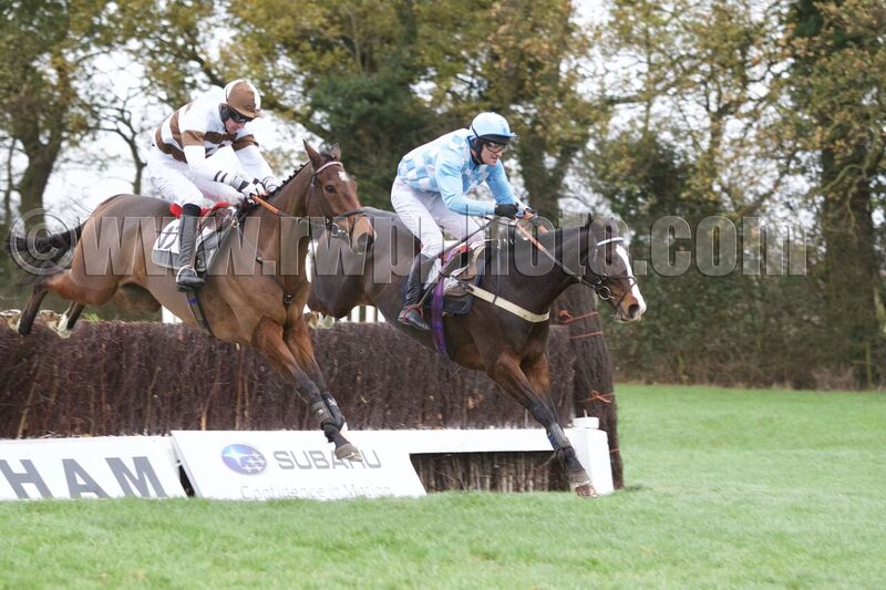Daidaidai (right) jumps alongside Rupert Wells