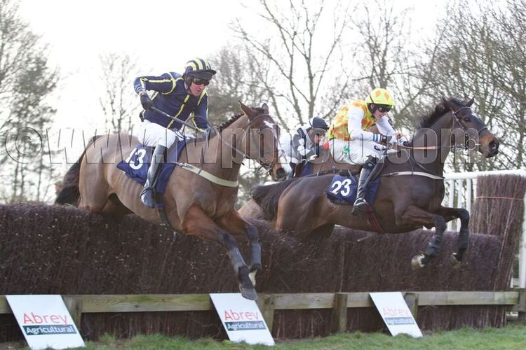 Ignite A Light (Alex Vaughan-Jones, left) is locked together with Petistree (Jack Andrews) at the final fence